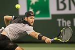 March 13, 2018: Jack Sock (USA) defeated by Feliciano Lopez (ESP) 7-6(6), 4-6, 6-4 at the BNP Paribas Open played at the Indian Wells Tennis Garden in Indian Wells, California. ©Mal Taam/TennisClix/CSM
