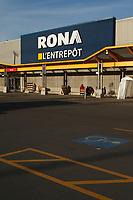 RONA L'ENTREPOT hardware store in  2012.<br /> <br /> File Photo : Agence Quebec Presse