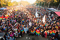 PORTO ALEGRE, RS 02 .07.2017 - PARADA-LGBT - Movimentação durante para do orgulho LGBT no Parque da Redenção na cidade de Porto Alegre neste domingo, 02. (Foto: Gabriel Soares/ Brazil Photo Press)