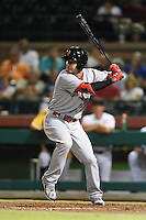 Surprise Saguaros outfielder Jesse Winker (29) during an Arizona Fall League game against the Scottsdale Scorpions on October 15, 2014 at Scottsdale Stadium in Scottsdale, Arizona.  Surprise defeated Scottsdale 13-11.  (Mike Janes/Four Seam Images)