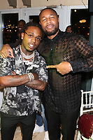 MIAMI, FL - FEBRUARY 19: Jaquees & Tank  attends Floyd Mayweather's 44th futuristic Birthday Party at Casablanca on the Bay on February 19, 2021 in Miami, Florida. Photo Credit: Walik Goshorn/Mediapunch