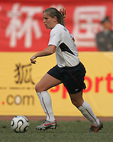 January 30, 2007: Cat Whitehill dribbles the ball. The U.S. defeated China, 2-0, to win the Four Nations Tournament at Guangdong Olympic Stadium in Guangzhou, China.