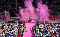 pink podium ceremony in the Verona amphitheater<br /> <br /> Stage 21 (ITT): Verona to Verona (17km)<br /> 102nd Giro d'Italia 2019<br /> <br /> ©kramon