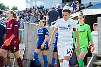 CARY, NC - SEPTEMBER 12: Christine Sinclair #12 of the Portland Thorns takes the field before a game between Portland Thorns FC and North Carolina Courage at WakeMed Soccer Park on September 12, 2021 in Cary, North Carolina.