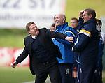 Killie manager Gary Locke celebrates