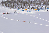 Thursday March, 2012    Trent Herbst arrives at the half-way  checkpoint at Ophir.   Iditarod 2012.