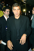 "George Clooney, Executive Producer of the new Home Box Office (HBO) series ""K Street"" arrives at the Palm Restaurant for the show's premiere in Washington, DC on September 12, 2003.  ""K Street"" is a new weekly half-hour series that goes inside the world of political consultants in the Nation's Capital..Credit: Ron Sachs / CNP.(RESTRICTION: NO New York or New Jersey Newspapers or newspapers within a 75 mile radius of New York City)"