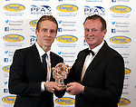 Player of the year Stefan Johansen with Michael O'Neill