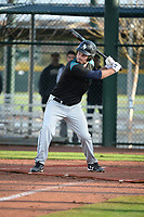 J.P. Shaw (8) of Mansfield High School in Mainesburg, Pennsylvania during the Under Armour All-American Pre-Season Tournament presented by Baseball Factory on January 14, 2017 at Sloan Park in Mesa, Arizona.  (Art Foxall/MJP/Four Seam Images)