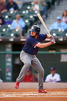 Lehigh Valley IronPigs first baseman Brock Stassi (10) at bat during a game against the Buffalo Bisons on July 9, 2016 at Coca-Cola Field in Buffalo, New York.  Lehigh Valley defeated Buffalo 9-1 in a rain shortened game.  (Mike Janes/Four Seam Images)