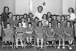 Bethel Park PA:  Cathy Stewart (with arms folded in the front row), having fun as a brownie and then a girl scout.