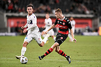 19th March 2021; Bankwest Stadium, Parramatta, New South Wales, Australia; A League Football, Western Sydney Wanderers versus Perth Glory; Daniel Wilmering of Western Sydney Wanderers crosses the ball for Mitch Duke who scores but his goal is disallowed for offside
