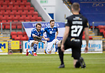 St Johnstone v Livingston…15.05.21  SPFL McDiarmid Park<br />Stevie May and Liam Craig take the knee<br />Picture by Graeme Hart.<br />Copyright Perthshire Picture Agency<br />Tel: 01738 623350  Mobile: 07990 594431