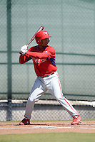 Philadelphia Phillies outfielder Jiandido Tromp (53) during a minor league spring training game against the Pittsburgh Pirates on March 18, 2014 at the Carpenter Complex in Clearwater, Florida.  (Mike Janes/Four Seam Images)