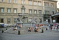 Italy: Rome--Piazza Santa Maria in Trastevere. Fountain remodeled by Bernini, 1659. Photo '83.