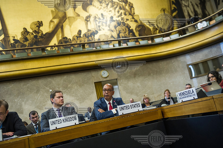 U.S. Ambassador Robert Wood, presenting the United States Nuclear Posture Review to other states at the Conference on Disarmament. Wood claimed that North Korea was only months away from having the capacity to hit the United States with a nuclear weapon and dismissed the North's prsent situation as a 'charm offensive' that fooled no one. He also added that the Chinese and Russians were increasing their nuclear capabilities.