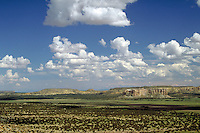Beautiful panorama taken on the Acoma Indian Reservation, Cibola County, northwest New Mexico. geography, desert. Acoma Indian Reservation. New Mexico.