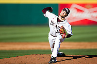 Nick Petree (10) of the Missouri State Bears delivers a pitch during a game against the Southern Illinois University- Edwardsville Cougars at Hammons Field on March 9, 2012 in Springfield, Missouri. (David Welker / Four Seam Images).