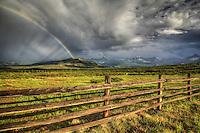 """Believe"" - Colorado - Rainbow at the Dallas Divide - San Juan Mountains - Telluride"