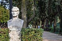 Bust of Fulcieri Paulucci di Calboli in the Villa Borghese, Rome, Italy