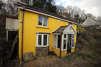 Pictured: The cottage where welsh language campaigner Eileen a Trefor Beasley was living between 1952 and 1964 whose fight gave birth to the Wales Language Society (Cymdeithas Yr Iaith Gymraeg) at Yr Allt near Llangennech, west Wales. Thursday 24 February 2017<br />
