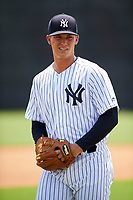 GCL Yankees West pitcher Glenn Otto (65) poses for a photo after the second game of a doubleheader against the GCL Yankees East on July 19, 2017 at the Yankees Minor League Complex in Tampa, Florida.  GCL Yankees West defeated the GCL Yankees East 3-1.  (Mike Janes/Four Seam Images)