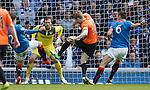 Stuart Armstrong scores the opener for Dundee Utd