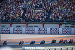 VALENCIA, SPAIN - NOVEMBER 11: Moto GP race start during Valencia MotoGP 2016 at Ricardo Tormo Circuit on November 11, 2016 in Valencia, Spain