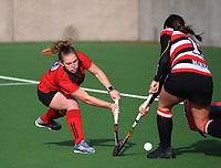 Canterbury 1 v Counties Manukau. 2021 National Women's Under-18 Hockey Tournament day two at National Hockey Stadium in Wellington, New Zealand on Monday, 12 July 2021. Photo: Dave Lintott / lintottphoto.co.nz https://bwmedia.photoshelter.com/gallery-collection/Under-18-Hockey-Nationals-2021/C0000T49v1kln8qk