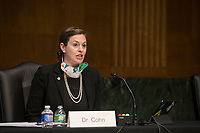 Dr. Lindsay P. Cohn Associate Professor, U.S. Naval War College appears before a Senate Committee on the Armed Services hearing to examine civilian control of the Armed Forces, in the Dirksen Senate Office Building in Washington, DC, Tuesday, January 12, 2021. <br /> CAP/MPI/RS<br /> ©RS/MPI/Capital Pictures