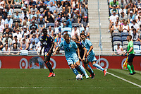 ST PAUL, MN - JULY 18: Robin Lod #17 of Minnesota United FC and Brad Smith #11 of the Seattle Sounders FC battle for the ball during a game between Seattle Sounders FC and Minnesota United FC at Allianz Field on July 18, 2021 in St Paul, Minnesota.