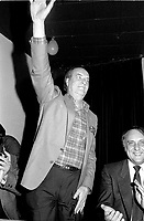 January 19, 1985 File Photo - Pierre DeBellefeuilles attend the Parti Quebecois extraordinary Convention. It is during that convention that a group of hardcore separatist named '' Les Orthodoxes'' left the PQ.