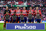 Players of Atletico de Madrid line up and pose for the photo prior to the La Liga 2018-19 match between Atletico de Madrid and Deportivo Alaves at Wanda Metropolitano on December 08 2018 in Madrid, Spain. Photo by Diego Souto / Power Sport Images