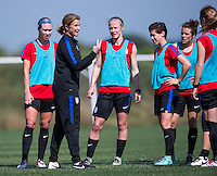 Orlando, FL - March 30, 2016: The USWNT trains during camp in Orlando, FL.