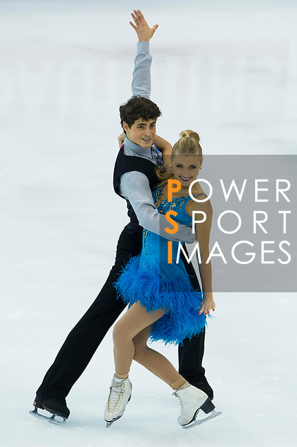 TAIPEI, TAIWAN - JANUARY 22:  Piper Gilles and Paul Poirier of Canada compete in the Ice Dance Short Dance event during the Four Continents Figure Skating Championships on January 22, 2014 in Taipei, Taiwan.  Photo by Victor Fraile / Power Sport Images *** Local Caption *** Piper Gilles; Paul Poirier