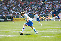 Boston Breakers Kristine Lilly moves upfield with the ball. The Boston Breakers and LA Sol played to a 0-0 draw at Home Depot Center stadium in Carson, California on Sunday May 10, 2009.   .