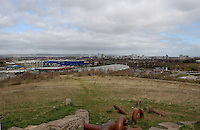 Pictured: General view of Cardiff as seen from a nearby hill known as Asda Hill<br />