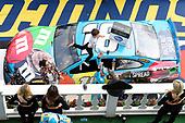#18: Kyle Busch, Joe Gibbs Racing, Toyota Camry M&M's Hazelnut, celebrates after winning the Pocono 400