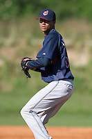Cleveland Indians minor leaguer Chris Archer during Spring Training at the Chain of Lakes Complex on March 17, 2007 in Winter Haven, Florida.  (Mike Janes/Four Seam Images)