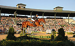 8 October 2010: Rolf-Goran Bengtsson (SWE) and Ninja La Silla compete during the Show Jumping Individual Championship Qualifiers in the World Equestrian Games in Lexington, Kentucky