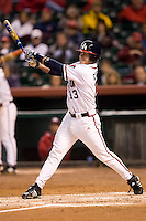 Houston Cougar Jimmy Cesario (13) follows through on his swing versus the Baylor Bears at the 2007 Houston College Classic at Minute Maid Park in Houston, TX, Friday, February 9, 2007.  Houston defeated Baylor 4-2.