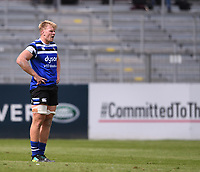 31st August 2020; Recreation Ground, Bath, Somerset, England; English Premiership Rugby, Josh McNally of Bath waits for action to restart between plays