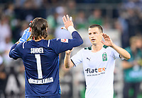 final jubilation Stefan LAINER r. (MG) with goalwart Yann SOMMER (MG), Soccer 1. Bundesliga, 1st matchday, Borussia Monchengladbach (MG) - FC Bayern Munich (M) 1: 1, on August 13th, 2021 in Borussia Monchengladbach / Germany. #DFL regulations prohibit any use of photographs as image sequences and / or quasi-video # Â