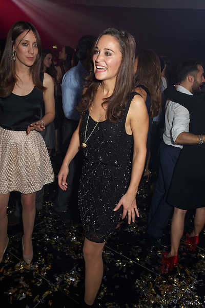 Pippa Middleton dances at The 2&8 launch party in Berkeley Square, London