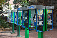 South Africa, Cape Town.  Public, Coin-operated Pay Phones on the street, still in 2013.