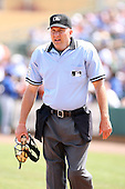 March 16th 2008:  MLB Umpire Jeff Nelson during a Spring Training game at Osceola County Stadium in Kissimmee, FL.  Photo by:  Mike Janes/Four Seam Images