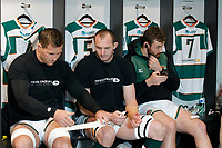 Ealing Trailfinders RFC players tape up during the Championship Cup Quarter Final match between Ealing Trailfinders and Nottingham Rugby at Castle Bar , West Ealing , England  on 2 February 2019. Photo by Carlton Myrie / PRiME Media Images.