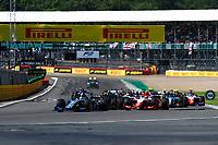 18th July 2021; Silverstone Circuit, Silverstone, Northamptonshire, England; F2 British Grand Prix, Race Day;  Race start, depart, 03 Zhou Guanyu (chn), UNI-Virtuosi Racing, Dallara F2