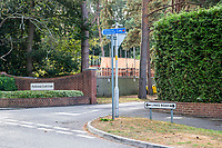 BNPS.co.uk (01202 558833)<br /> Pic: MaxWillcock/BNPS<br /> <br /> Pictured: The entrance to Parkstone Golf Club on Links Road in Branksome Park.<br /> <br /> Police hunting two women dubbed the 'Rolex Rippers' have released CCTV images of the prime suspects.<br /> <br /> The duo are believed to have targeted at least 21 elderly men in affluent areas of southern England for their expensive Rolex watches.