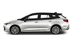 Car Driver side profile view of a 2019 Toyota Corolla-Touring-Sports Hybrid-Style 5 Door Wagon Side View